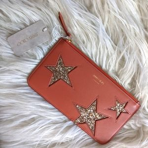 """NWT Jimmy Choo Aarna pouch in """"Mix Pink"""""""